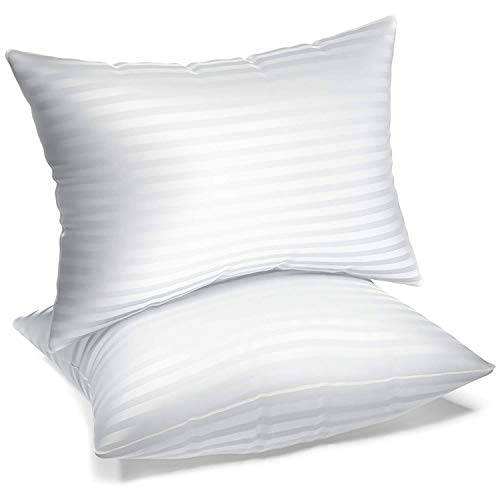 BROOKLUX Home & Hotel Collection Gel Pillows for Sleeping - Set of 2 - Luxury Soft Plush Bed Pillow for Back, Side, or Stomach Sleepers - Queen