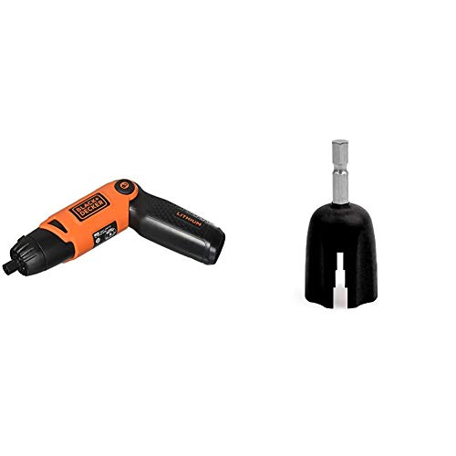 BLACK+DECKER Cordless Screwdriver with Pivoting Handle, 3.6V (Li2000) & Planet Waves Drill Bit Peg Winder