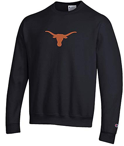 Champion NCAA Men's University of Texas Bevo Logo Crew Sweatshirt (Large)
