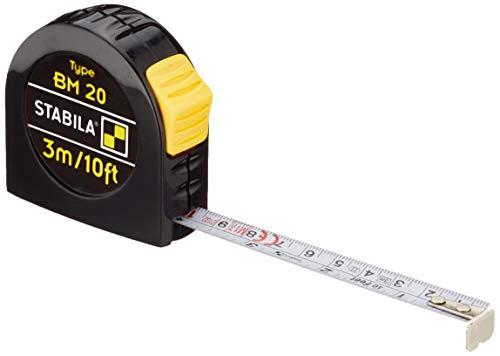 STABILA Taschenbandmaß BM 20, 3 m / 10 ft
