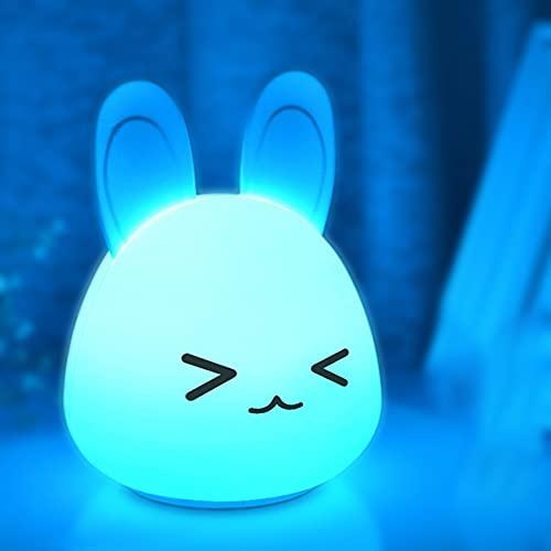 Luz Nocturna LED, Lámpara De Silicona De Patas De Conejo Lindo, Lámpara Portátil Lámpara De Noche, Cumpleaños De Navidad para Niños