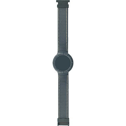 Cinturino di Ricambio HIP HOP LEATHER HBU0210 42mm Silicone Pelle Grigio XL