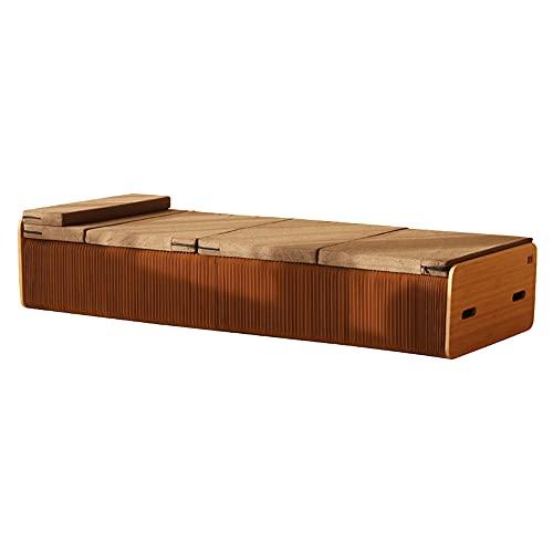 HGFDSA Klappbett, Creative Kraft Paper Design Multifunktionsmöbel, erhebliche Platzersparnis Keine Montage erforderlich, ideal für Büro/Wohnen,Single Bed,90cm
