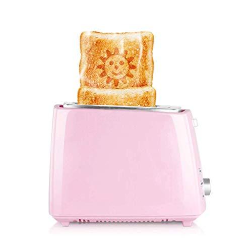 Mnjin Multifunktionaler Brotbackautomat 2 Slice Toaster |Edelstahl mit Breiten Schlitzen und herausnehmbarer Krümelschublade für Brot und Bagels