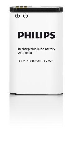 Philips ACC8100 Li-Ion Akku für Philips DPM8xxx, 7xxx, 6xxx, schwarz/weiß