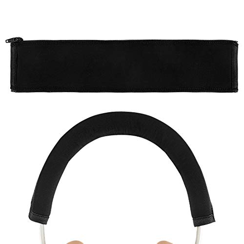 Geekria Headband Cover Compatible with Bang & ÔLUFSEN Beoplay H95, H9i, H9, H9 3rd Gen, H4, H8, H7 Wireless Headphones/Headband Protector/Easy DIY Installation No Tool Needed (Black)
