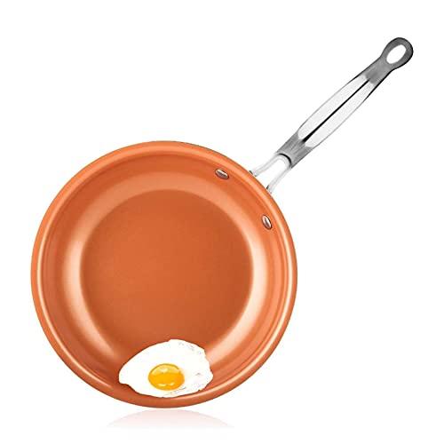 Yinyimei sarten Antiadherente Cocinar PANTENGA Dropshipping Pote asado con Tortilla Engrosada Pan de Huevo Antiadherente Huevo Pankake SART Pan para cocinar Desayuno (Farbe : 28cm)