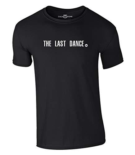 The Last Dance T-Shirt 98 Chicago Bulls Champions Michael Jordan NBA Basketball Shirt Jersey Trikot (L, Black)
