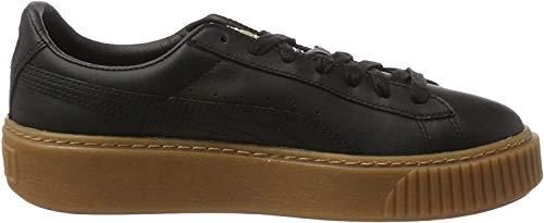 Puma Damen Basket Platform Core Sneaker, Schwarz Black Black, 39 EU