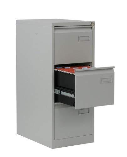Bisley LIGHT Light Hängeregistraturschrank, einbahnig, DIN A4, 3 HR-Schubladen, Metall, 645 Lichtgrau, 62.2 x 41.3 x 101.6 cm