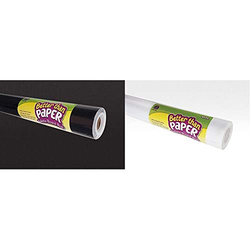 Teacher Created Resources Better Than Paper Bulletin Board Roll, Black - 77314 & Better Than Paper Bulletin Board Roll, White - 77373