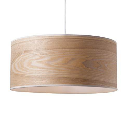 Luminaire Wooden,suspension fibre de bois, 60 W,naturel, ø 38 x H 22 cm