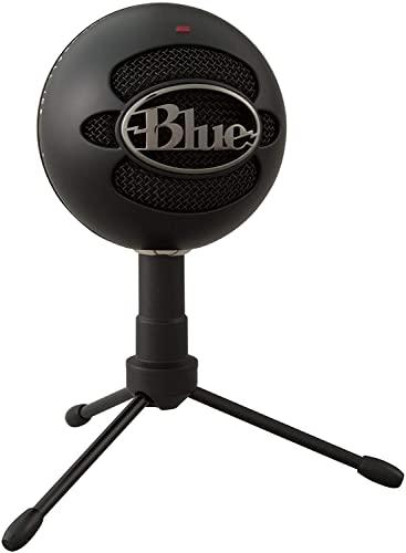 Microfone Condensador USB Blue Snowball iCE com Captação Cardióide, Ajustável, Plug and Play para Gravação e Streaming em PC e Mac - Preto