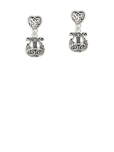 Celestial Harp - Celtic Heart Earrings