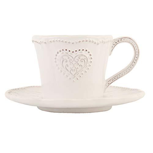 Clayre & Eef HRTKSN Kaffeetasse mit Untertasse Ø 15 * 8 cm