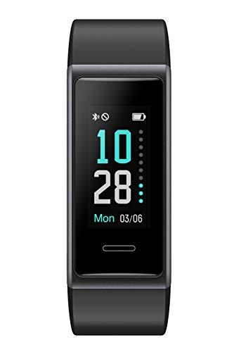 スマートウォッチ Yamay 歩数計 活動量計 ストップウォッチ 着信通知 IP68防水 画面の明るさ調節 最長連続7日間使用可能 iPhone&Android対応