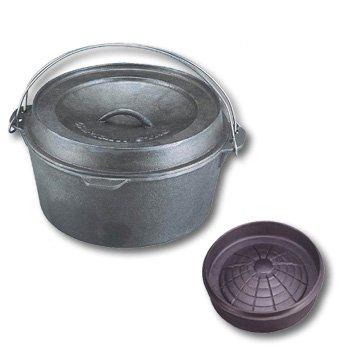 キャプテンスタッグ(CAPTAIN STAG) バーベキュー用 鍋 ダッチオーブン 30cm ジンギスカンリッド 30cmM-5533