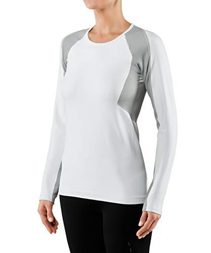 Falke Dope Dyed T-Shirt à Manches Longues pour Femme Blanc Taille XXS