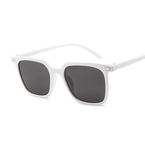 Gafas de sol cuadradas pequeñas para mujer, gafas de sol vintage negras y rosas Uv400 adecuadas para pesca, equitación, golf y playa, blanco,