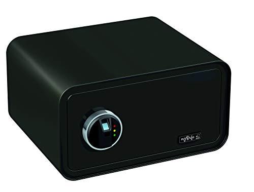 MySafe, cassaforte con impronta digitale, vari colori disponibili, misura 430, nero