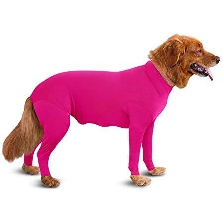4 patas medianos y peque/ños de algod/ón puro Lovelonglong Pijama ligero de cuatro pies camiseta elegante PJS disfraz para cachorros grandes mono para perro