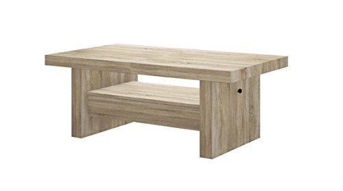 Design Couchtisch Tisch Aversa H-111 Sonoma Eiche Schublade höhenverstellbar ausziehbar Esstisch