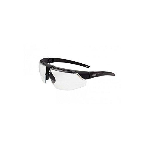 Uvex S2850HS Avatar Adjustable Safety Glasses with HydroShield Anti-Fog Coating, Standard, Black