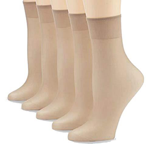 FussFreunde 10 Paar Feinsöckchen, Fein-Socken, 30 den 33 dtex=30 den (Makeup, One Size)