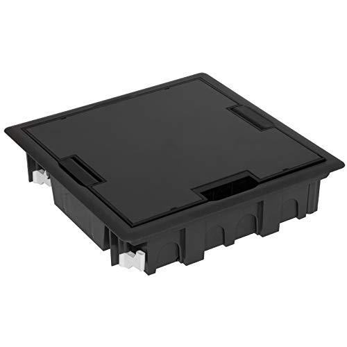 EFAPEL Bodeneinbaudose mit Klappdeckel, IP24, IK10, für 8 Module 45 x 45 oder 16 Module 22,5 x 45 (9019282005)