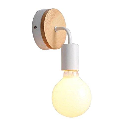 LED Aplique Escalera Pasillo Accesorio De Cama Apliques De Pared Decorativos Aplique L/ámpara De Pared Aplique De Madera Maciza Simple Sala De Estar Dormitorio American LED Linterna De Pared 1