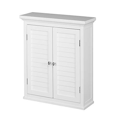 Versanora ELG-583 Gabinete de Pared de baño, MDF, Blanco, 50.80 x 17.78 x 60.96 cm
