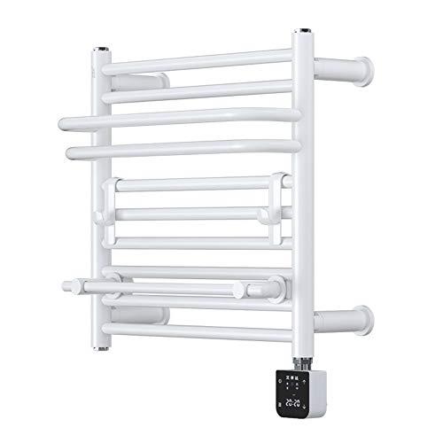MTX-Racks handdoekverwarmer elektrische handdoekdroger, wandmontage plat paneel radiator voor badkamer, babykleding wasdroger, antraciet ruimtebesparend - 490 x 470 mm modern design