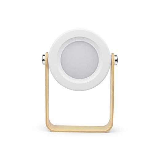 Xiaojie Lámpara de mesa plegable LED con sensor táctil recargable USB, lámpara de escritorio para lectura de cabecera, camping al aire libre (color del cuerpo: blanco, color: blanco cálido)