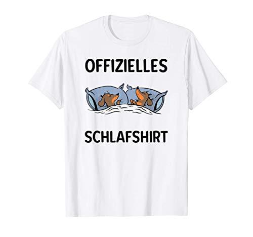 Offizielles Schlafshirt - Dackel Hund Schlafanzug Nachthemd T-Shirt