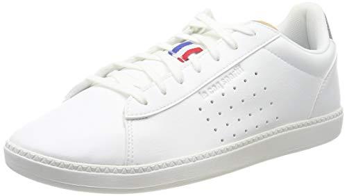 Le Coq Sportif Herren COURTSTAR Sneaker, Weiß (Optical White/Grey Denim Optical White/Grey Denim), 43 EU