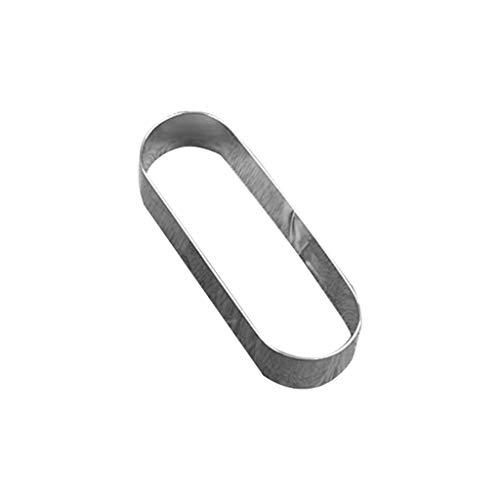 Abcidubxc Ovaler Rechteckiger Tortenring, Mousse-Ring Aus Edelstahl, DIY-Backwerkzeuge, Wiederverwendbar