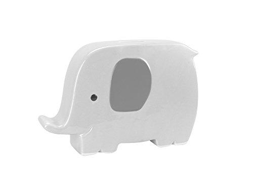 Pearhead 97044 Best Buddies Keramik Keepsake Bank, Elefant, grau