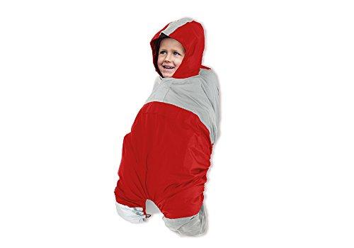 R-FLECT Kinder Poncho für Babytragesitz, Red, One Size