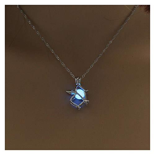 Collar delicado para mujer Collar para mujeres, cadena de clavícula de perla luminosa, colgante de collar simple de moda para niñas Joyería, regalos para el aniversario de cumpleaños Día de San Valent