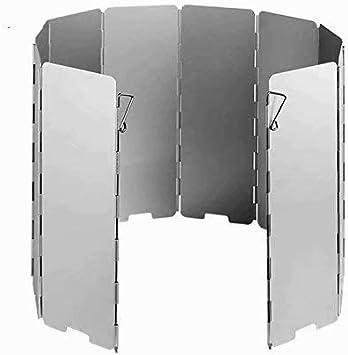 LINSUNG 10 placas Fold camping Cocina Cocina de gas Escudo ...