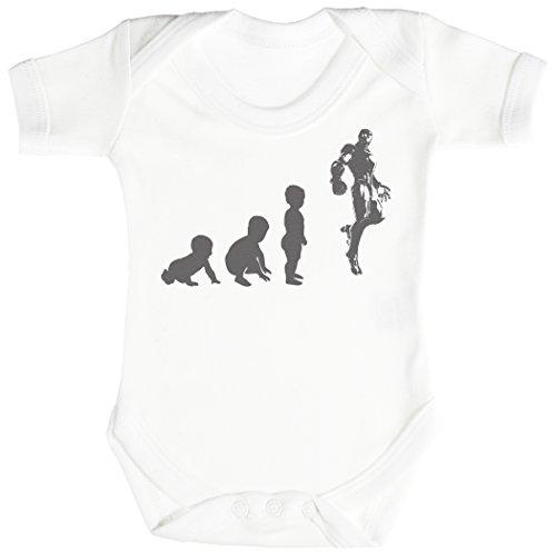 Baby Evolution to A Iron Man Body bébé - Gilet bébé - Body bébé Ensemble-Cadeau - Naissance Blanc
