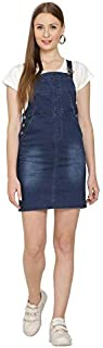 NIFTY Women's Denim Slim Fit Skirt Dungarees