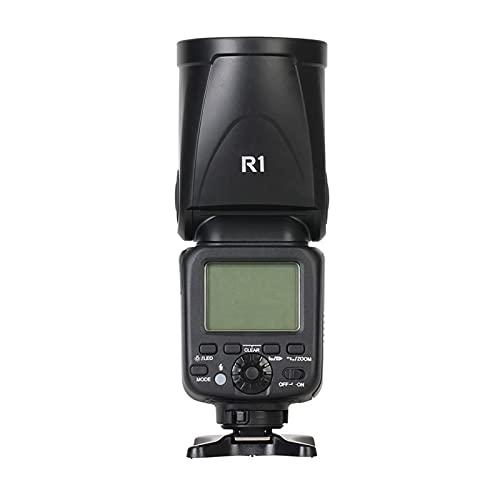 skrskr Speedlite Flash Light Testa tonda 2.4G Wireless TTL 1 / 8000s 5600K Temperatura colore 76Ws 16 canali compatibile con Canon Nikon Camera