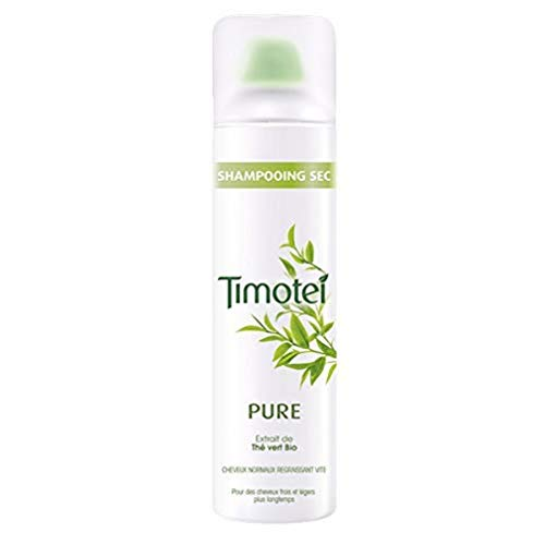 Timotei Pure, shampoing Sec pour Femmes, Extrait de Thé Vert Bio, Idéal pour les cheveux normaux regraissant vite 245 ml