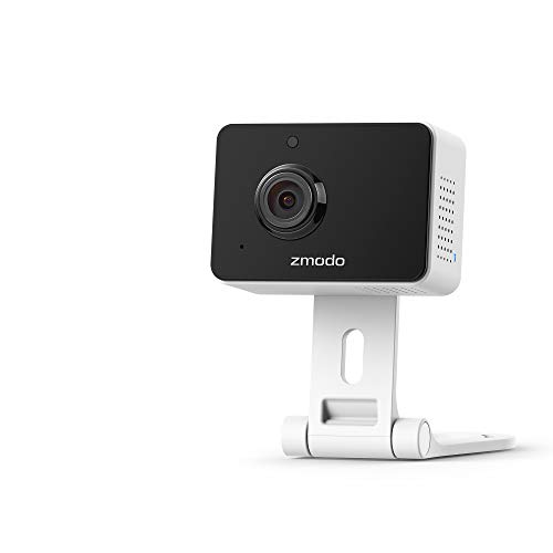 Zmodo Mini Pro,1080P Plug-In Wireless Security Camera, Indoor Smart IP Home Camera with AI Motion Detection,Pet Cam, Nanny Cam,Night Vision, 2-Way Audio,Phone App, Alexa and Google Assistant Available