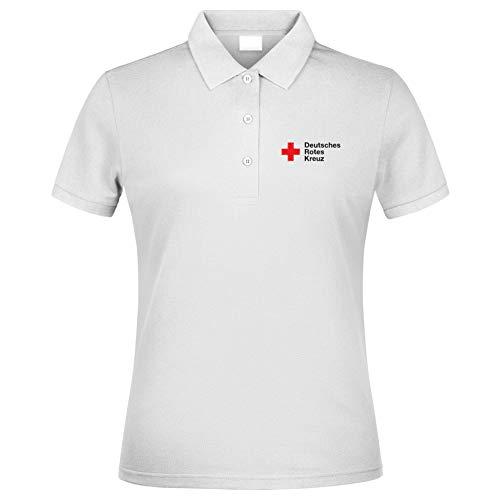 MT83 DRK Deutsches Rotes Kreuz Damen Poloshirt alle gestickten Schriften (2XL)