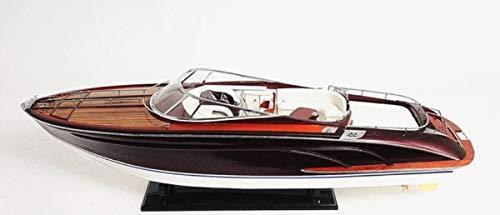 Casa Padrino Holz Speedboot Riva Rama Replica Mehrfarbig 94 x 26,7 x H. 27,9 cm - Handgefertigtes Deko Modellboot Boot