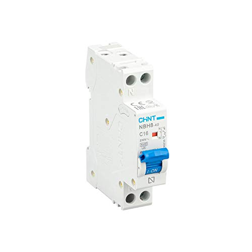 CHINT Interruptor Automatico Magnetotermico Gama Domestica Curva C (1P+N, 16A)