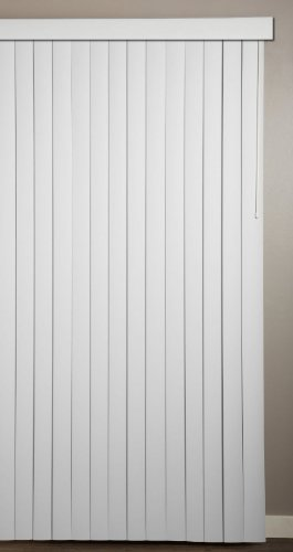 """Achim Home Furnishings Vertical Blinds, 78"""" wide 84"""" long, Ribbed White"""