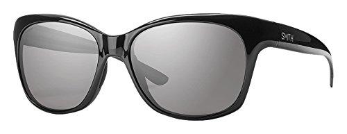 SMITH Feature EE D28 54 Gafas de Sol, Mujer, Negro (Shiny Black/Grey Pz)